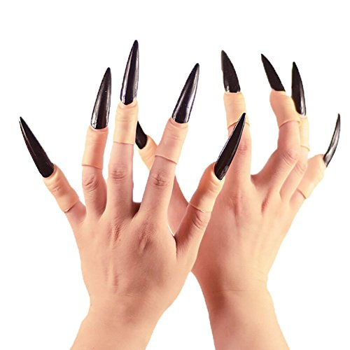 Nail Claws False Nail Arrow Claw Rings Cosplay Nail Finger Tips Party Halloween Prop Talon Claw Paw Finger Fingertip Arrow Claw Rings Finger Claw Witch Claws Armor finger Gothic Vampire Nails 10PCS