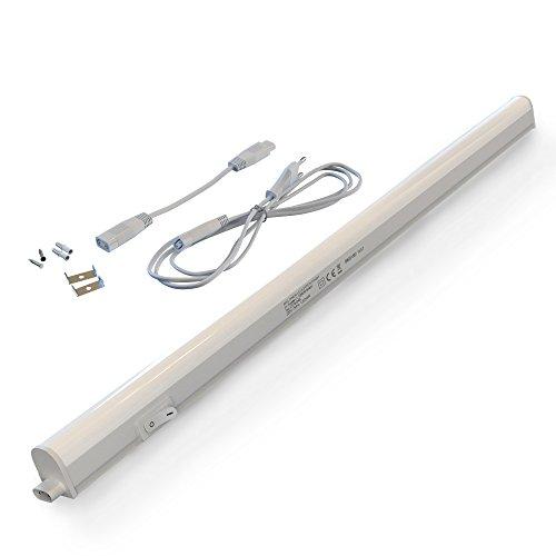 Briloner Leuchten Barra LED bianca, moderna, con interruttore, da interni, 8 W, lampadine integrate, 57.3 x 3 x 2.2 cm (L x A x P), 2379-086