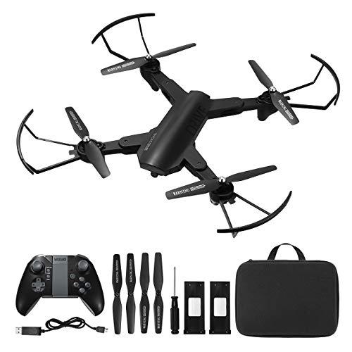 Powerextra Drone con Telecamera Due Batterie per Principianti - XS819 Drone con WiFi FPV HD 720P App Mobile Controllo Un Pulsante Decollo e Atterraggio G-sensore 3D Flip - Aeroplanino Giocattolo