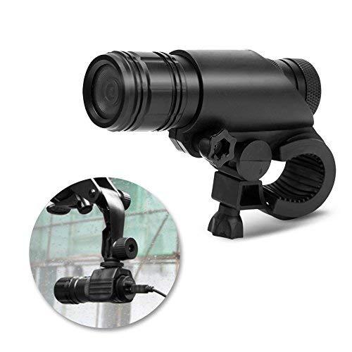 Zerone Videocamera Digitale MC28, Videocamera Moto Casco Moto Impermeabile 8MP 720P Videoregistratore Digitale con Kit di Montaggio 120 Gradi Fotocamera per Arrampicata Sportiva