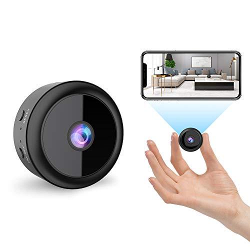 RIRGI Koiteck Telecamera Spia Nascosta wifi, Telecamera wi-fi Interno HD 1080P con Visione Notturna, Rilevamento di Movimento Videocamera Sorveglianza Microcamere per Esterno/Interno