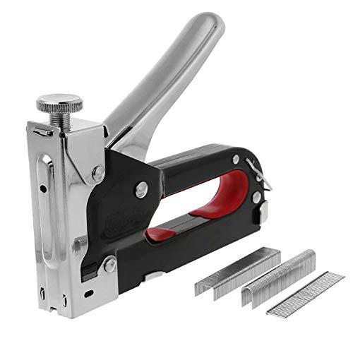 Pistola per graffette, pistola per graffatrice 3 in 1, cucitrice completa, costruzione in metallo,...