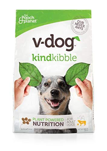 V-Dog Vegan Kibble Dry Dog Food, 20 lb, with Plant...