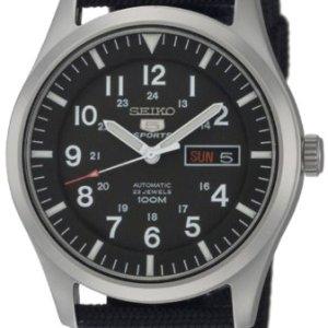 SEIKO Men's SNZG15 SEIKO 5 Automatic Stainless Steel Watch with Nylon Strap 41