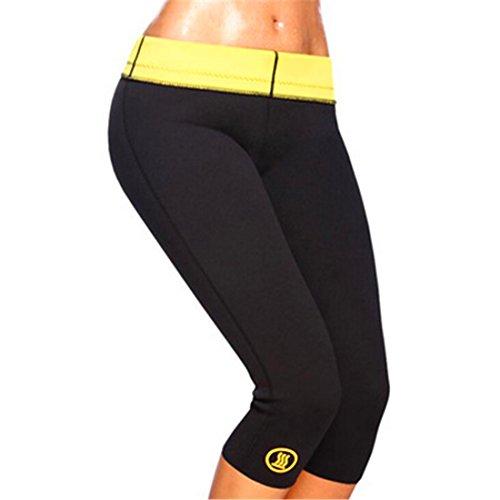 Hot Shaper, pantaloni per Fitness, in neoprene, nero, L
