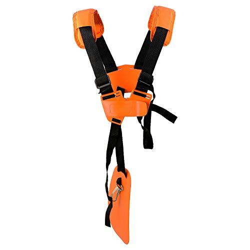 Tracolla Decespugliatore Universale - Cintura per Decespugliatore Professionale Trimmer Strap per STIHL, Echo, Shindaiwa, Husqvarna, Honda Brush Cutter Decespugliatore.EcceteraArancia