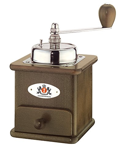 "Zassenhaus ""Brasilia"" Dark Beech Wood Manual Coffee Mill"