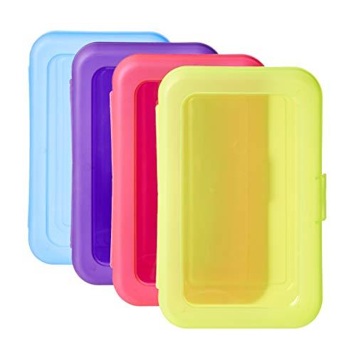 Amazon Basics Scatoletta portapenne, conf. da 4, colori assortiti