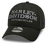 ハーレーダビッドソン 刺繍入りグラフィック39THIRTYベースボールキャップ メンズ ブラック ファッション小物 帽子 キャップ 99417-20VM (M)