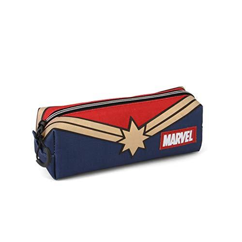 Karactermania Captain Marvel Powerful-Quadrat HS Federmppchen Astuccio, 22 cm, Multicolore (Multicolour)