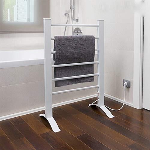 InnovaGoods portasciugamani Elettrico, Parete e Pavimento, Alluminio, Bianco, 55x 91x 35cm