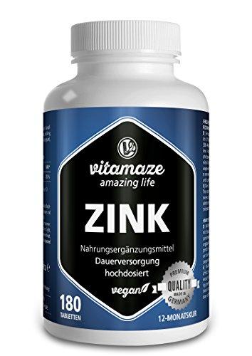 Vitamaze® Zinc 25 mg Tabletas, 180 Pastillas Vegano para 12 Meses, la...