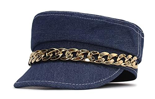EOZY Casquette Capitaine Femme Vintage Élégant Chapeau Béret Jean...