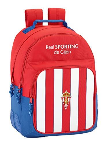 Safta Mochila Escolar Real Sporting De Gijon Oficial 320x150x420mm