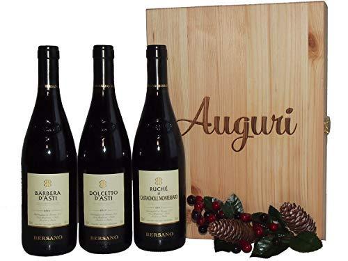Elegante Confezione Vini pregiati Bersano Piemonte - Regalo Vini Pregiati per Occasioni Importanti - cod 174