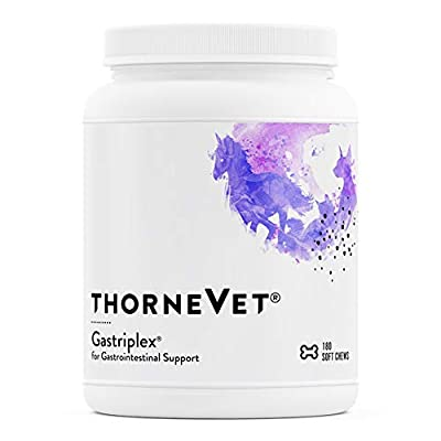 ThorneVET Gastriplex provides gastrointestinal support for dogs, cats & horses with digestive upset Contains probiotics (Saccharomyces boulardii & Bacillus coagulans), L-Glutamine, NAG, & B Vitamins Aids animals suffering from poor digestion, food in...