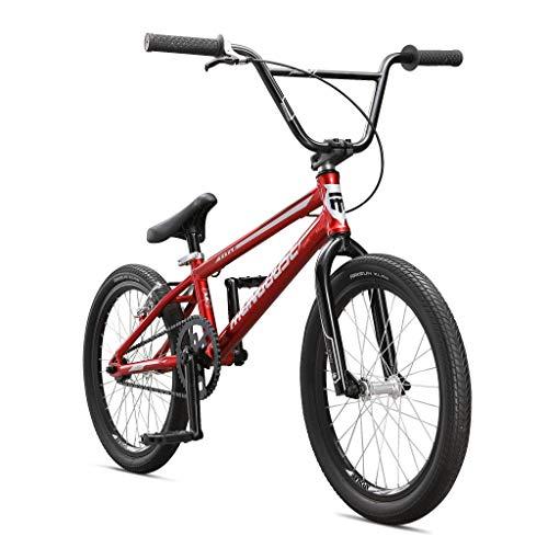 Mongoose Title Junior BMX Race Bike, 20-Inch Wheels, Beginner to Intermediate Riders, Lightweight Aluminum Frame, Internal Cable Routing, Silver