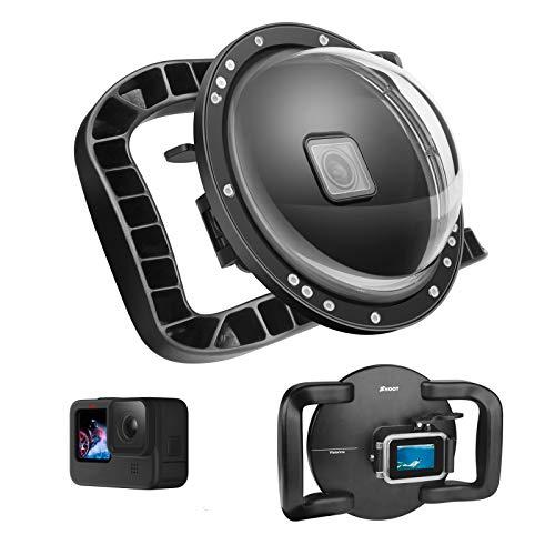 SHOOT Dome Port per GoPro HERO9 - Galleggiante con Stabilizzatore a Doppia Impugnatura,Grilletto Ingranditore,Custodia Impermeabile Complessiva - Più Facile da Impugnare e Riprendere su Foto Subacquei