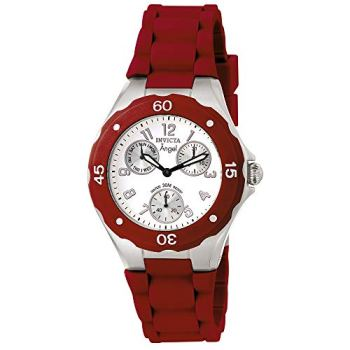 Invicta Women's 0701 Angel Collection Red Multi-Function Watch
