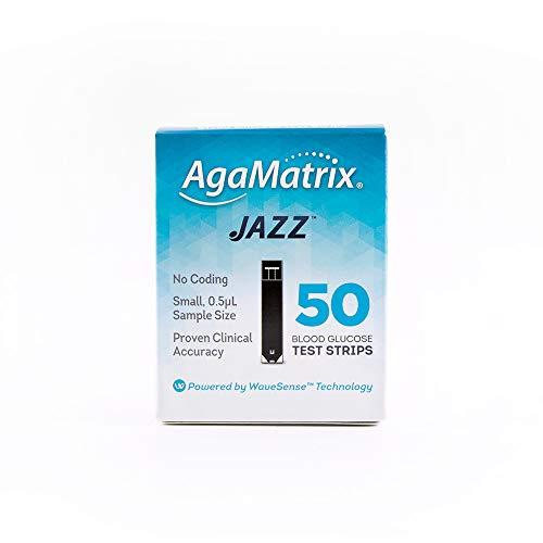 AgaMatrix 50 Piece Jazz Test Strip, 0.05 Pound
