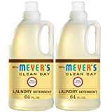 Mrs. Meyer's Clean Day Liquid Laundry Detergent for Baby, Cruelty Free and Biodegradable Formula Infused with Essential Oils, Baby Blossom Scent, 64 oz - Pack of 2 (128 Loads)