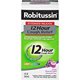 Robitussin Extended-Release 12 Hour Cough Relief (5 fl. oz. Bottle, Grape Flavor), Alcohol-Free Cough Suppressant