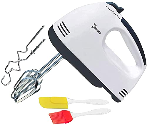 MHR Hand Blender and Mixer Electric Egg Beater with free oil brush and spatula for kitchen (260 watt)