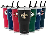 Simple Modern NFL New Orleans Saints 30oz Tumbler with Flip Lid and Straw Insulated Stainless Steel Travel Mug Classic (Sports)