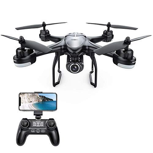 Potensic Drone GPS Professionale T18 FPV con Telecamera 120  Grandangolo Regolabile HD 1080P Dual GPS Fotocamera Seguimi RTH con Telecomando, Nero