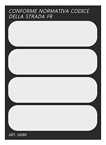 quattroerre 16080Kit 4pegatinas luminosos/reflectantes para casco moto-colore blanco