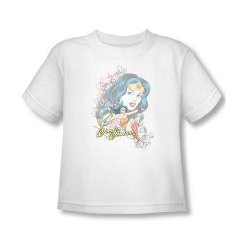 Wonder Woman–Wonder scroll Toddler t-shirt in bianco Bianco White