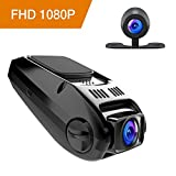 APEMAN 1080P FHD Dual In Car Dash Cam Camera DVR Digital Driving Video Recorder Front Cam and IP67 Water Resistance Rear View 170°Wide Angle 6G Lens with WDR, Loop Recording, G-sensor,Motion Detection