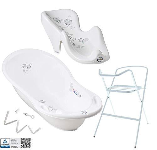 Vasca da bagno per neonati con telaio e seggiolino da bagno - Diversi set per neonati con vaschette...