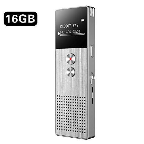 Registratore Vocale Digitale BENJIE 16GB HD Audio Professionale Portatile Registratore Voice...