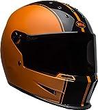 Bell Eliminator Street Motorcycle Helmet (Gloss Rally Matte/Gloss Black/Orange, Large)