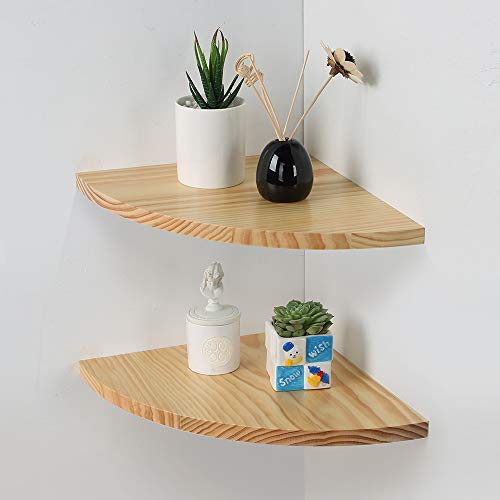 Corner Wall Shelf Set of 2 , 12inch Corner Floating Shelves, Hanging Corner Shelf for Bathroom, Kitchen,Living...