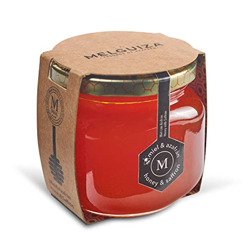 Miel Pura de Abeja de la flor de Naranjo o Azahar Producida en España con Azafrán de la Mancha (250 Gr)