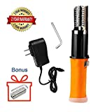 Electric Fish Scaler Remover, Amayia Upgrade Powerful Electric Fish Scaler Skin Deslagger Scaler Rechargeable Waterproof Fish Scaler Automatic Electric Fish Skin Clean Brush (with One Extra Head)