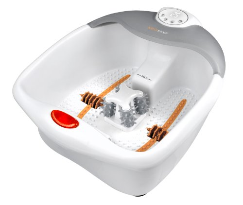 Medisana FS 885 Fußsprudelbad mit Fußreflexzonenmassage - elektrisches Fußbad, Wärmefunktion, Vibrationsmassage, Timer-Funktion, Fußbad mit Massage, für große Füße und eine angenehme Fußmassage