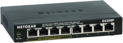 Netgear GS308P Switch Ethernet PoE 8 porte...