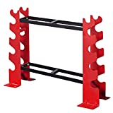 FISUP Dumbbell Rack Stand Only for Home Gym Weight Rack for Dumbbells, 22.04 x 9.05 x 28.3 inches, 330 LBS Capacity