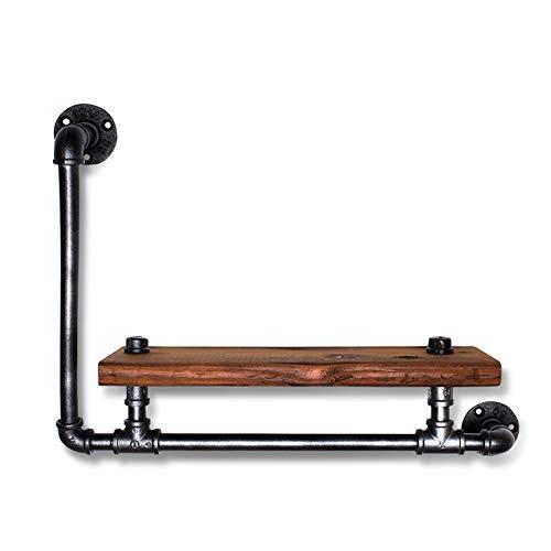 HCDMRE Mensole a Parete, mensola della Famiglia American Industrial Style Pipe Display Rack, retr...