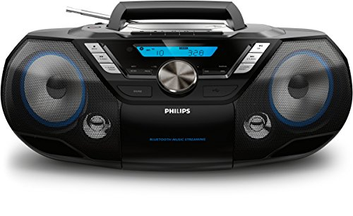 Philips AZB798T CD-Soundmaschine mit Bluetooth (CD, MP3-CD, USB, DAB+, UKW) schwarz