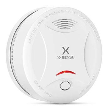 X-Sense Détecteur de Fumée, Certifié VDS & TÜV Selon EN14604, avec 10 Ans de Durée de Vie de la Pile, Alarme Incendie Intelligente, et Capteur Photoélectrique SD13 (Lot de 1)