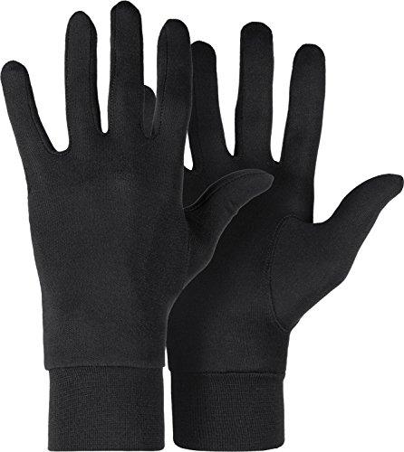 Roeckl Erwachsene Silk Unterziehhandschuhe, Schwarz, S