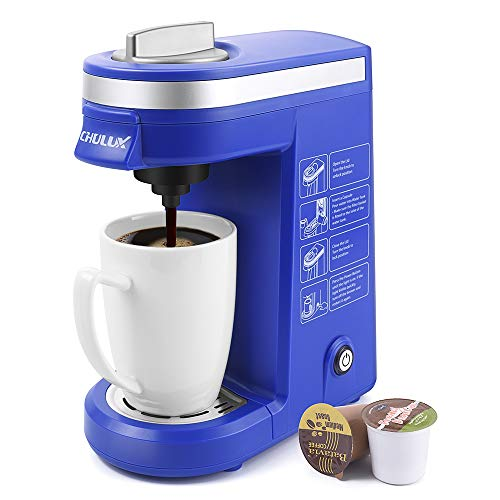 CHULUX Coffee Maker Machine,Single Cup Pod Coffee Brewer with...