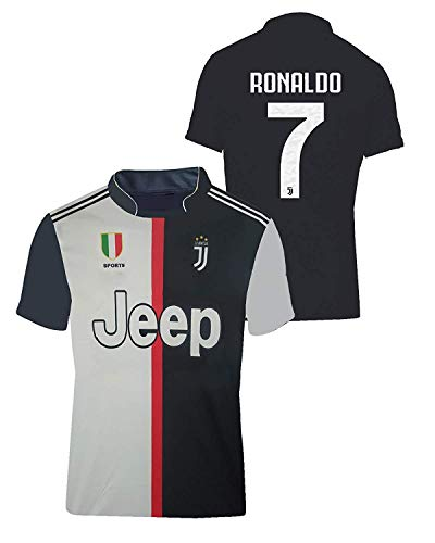 Juventus Football Jersey for Girls (11-12 Years, Multi Coloured)