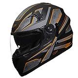 Fulmer, 1511424, Adult Full Face Motorcycle Helmet - 151 Pulse - Orange, L