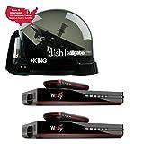 RV Wholesale Direct King Dish DTP4900 Tailgater PRO Premium Satellite TV Antenna w/ 2 Wally Receivers
