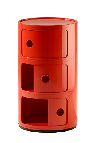 Kartell Componibili Contenitore, ABS, Rosso, 32 x 32 x 58.5 cm